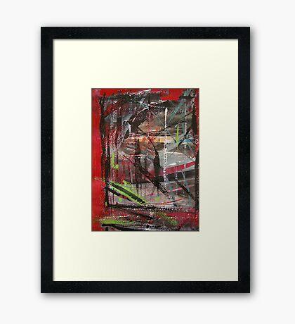 through red windows #5 Framed Print