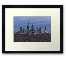 Canada's Parliament building at dusk Framed Print