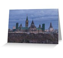 Canada's Parliament building at dusk Greeting Card
