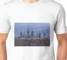 Canada's Parliament building at dusk Unisex T-Shirt