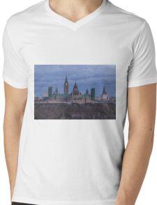 Canada's Parliament building at dusk Mens V-Neck T-Shirt