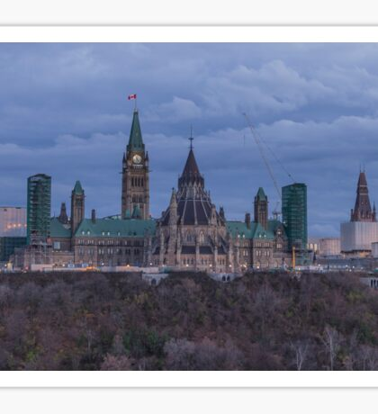 Canada's Parliament building at dusk Sticker