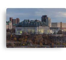 Supreme Court of Canada building Canvas Print