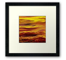 Yellow River Flow Abstract Framed Print