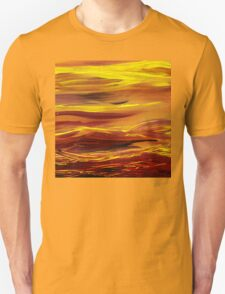 Yellow River Flow Abstract T-Shirt