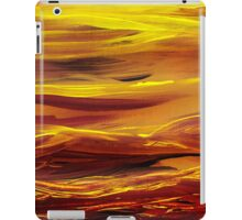 Yellow River Flow Abstract iPad Case/Skin