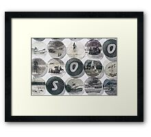 SUP Sand Surf  Framed Print