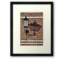 Street Light, Chester Framed Print