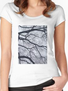 Trees and Sky Pt. 2 Women's Fitted Scoop T-Shirt