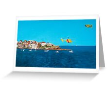 Sydney 2000 - Olympic Torch Landing by Sea - Panel 3 Greeting Card