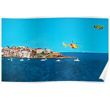 Sydney 2000 - Olympic Torch Landing by Sea - Panel 3 Poster