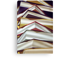 A Pile of Books Canvas Print