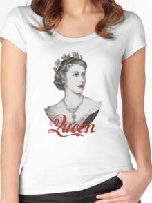 Queen of Diamonds Women's Fitted Scoop T-Shirt
