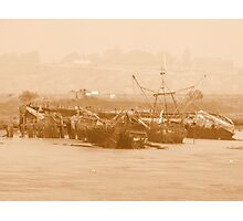Wrecks at Faversham Creek Photographic Print