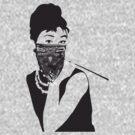 Gangster Audrey Hepburn   TSHIRT by inspctrspactime