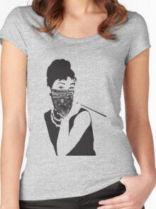 Gangster Audrey Hepburn | TSHIRT Women's Fitted Scoop T-Shirt