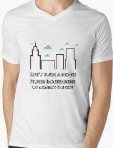 Loft Music Lyric Highlight Mens V-Neck T-Shirt