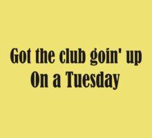 Tuesday Lyrics Highlight Kids Tee