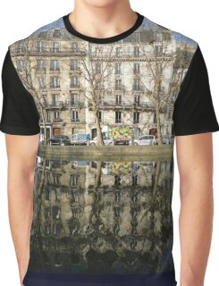 Reflections, Canal Saint Martin, Paris, France, Europe 2012 Graphic T-Shirt