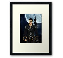 "Captain Hook Comic Poster ""Moonlight"" Framed Print"