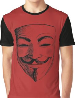 V for Vendetta Graphic T-Shirt