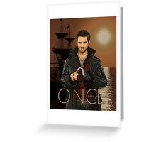 "Captain Hook Comic Poster ""Sunset"" Greeting Card"