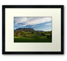 Mt Roland in the afternoon Framed Print