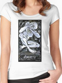 'Anxiety' Women's Fitted Scoop T-Shirt