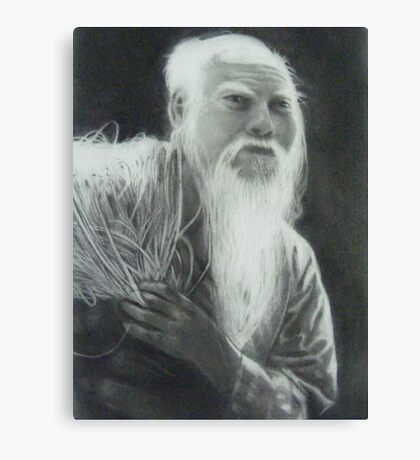 Old Man Fishing Canvas Print