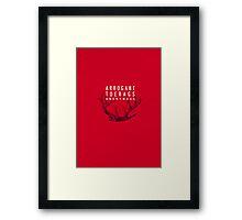 MARAUDERS | Arrogant Toerags Anonymous Framed Print
