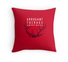 MARAUDERS | Arrogant Toerags Anonymous Throw Pillow