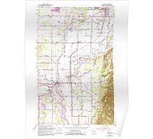 USGS Topo Map Washington State WA Sumas 244118 1952 24000 Poster