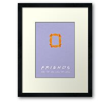 FRIENDS | minimalist poster Framed Print