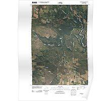 USGS Topo Map Washington State WA Glenwood 20110425 TM Poster