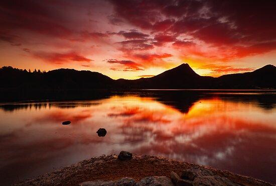 Fall Fire by John  De Bord Photography