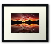 Fall Fire Framed Print