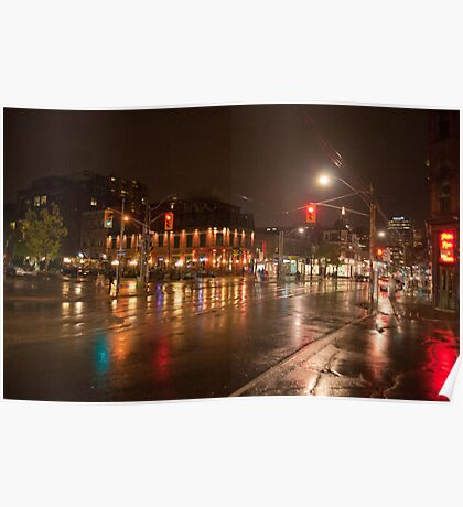 Queen And Soho On A Rainy Night Poster
