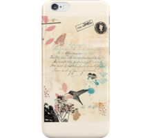 Victorian greetings iPhone Case/Skin