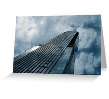 Blue Skyscraper Greeting Card