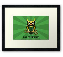 Owl of Mischief Framed Print