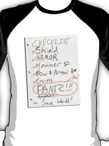 Alien Invasion Checklist T-Shirt