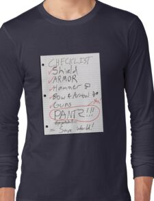 Alien Invasion Checklist Long Sleeve T-Shirt