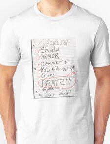 Alien Invasion Checklist T-Shirt