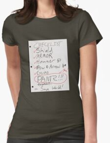 Alien Invasion Checklist Womens Fitted T-Shirt