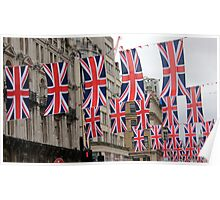 Central London Jubilee Flags Poster