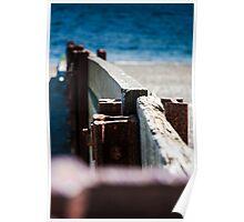 Criccieth beach Groins. Poster