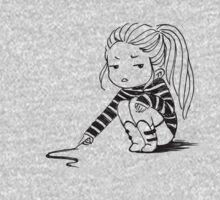 Bored Girl One Piece - Long Sleeve