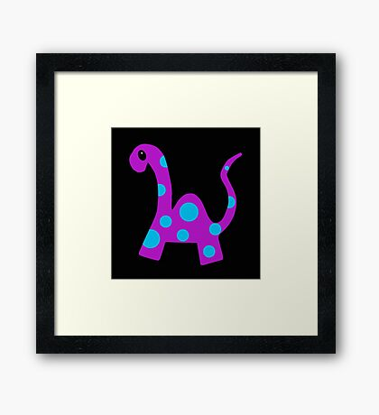 Dippy the Dinosaur Framed Print