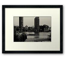 East River. Long Island. Framed Print