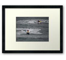 Painting The Pacific Ocean - Pintando El Oceano Pacifico Framed Print